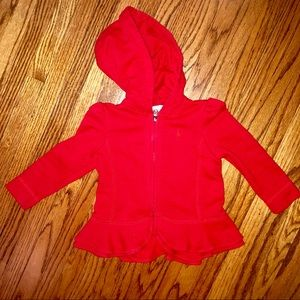 Ralph Lauren Matching Sets - Red Ralph Lauren 12 Month Sweatsuit